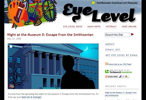 Serie: Web 2.0 im Kulturmarketing - Eyelevel, Blog des Smithsonian American Art Museum