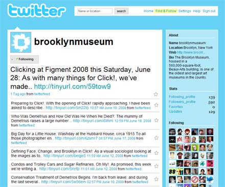 twitter screensot brooklynmuseum
