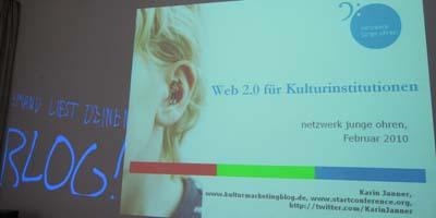 Schulung Web 2.0 im Kulturbetrieb für das netzwerk junge ohren