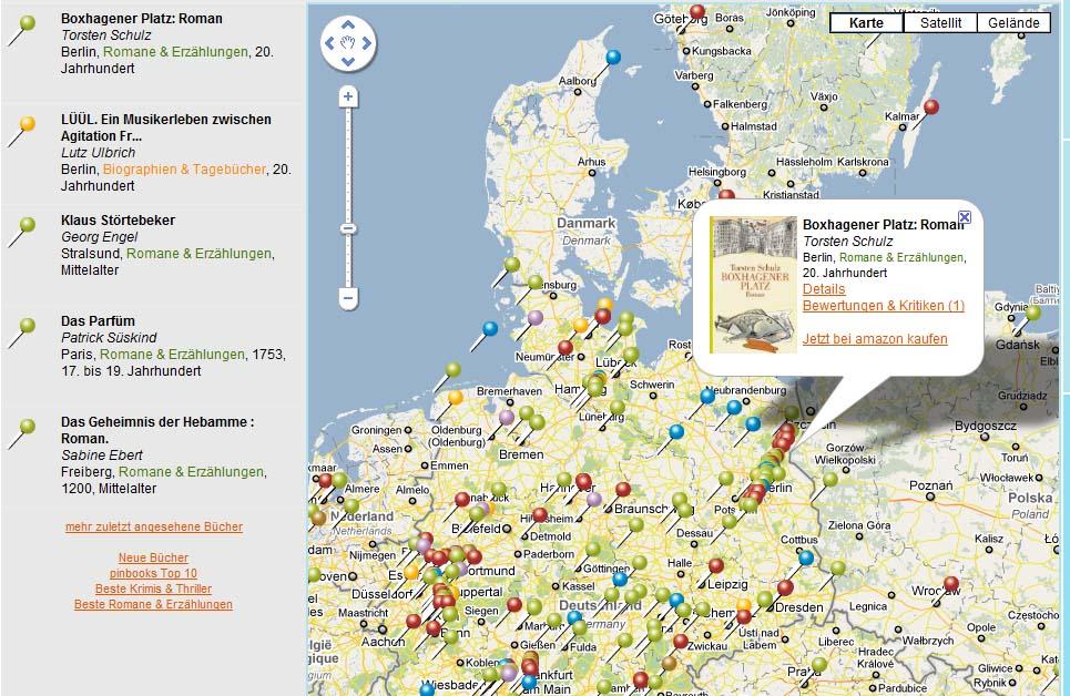 pinbooks - Geotagging für Bücher